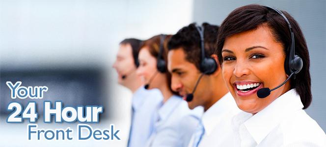 24 hour receptionist